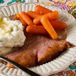 Mustard Orange Glazed ham.
