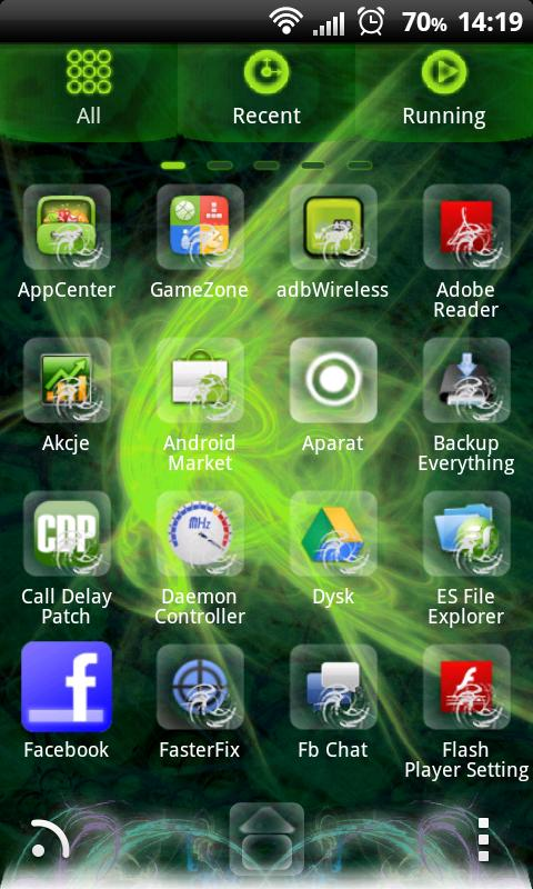 GO Launcher EX Future Theme - screenshot