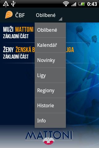 CBF - Czech basketball mobile