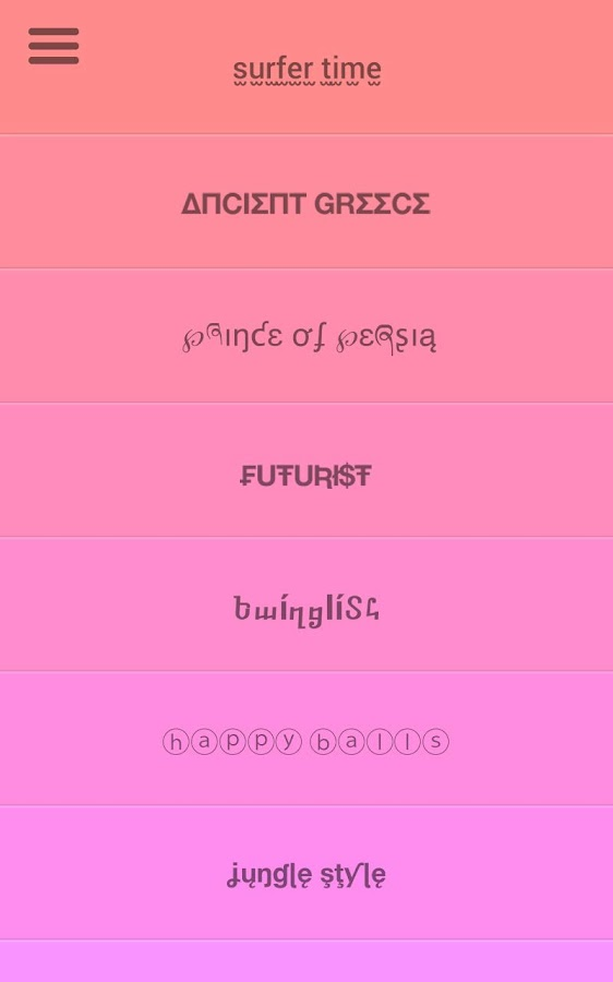 Fontsy: Cool fonts on Kik Line - screenshot