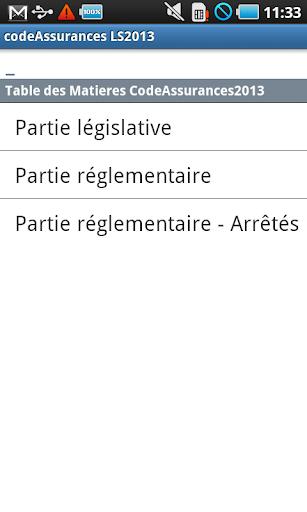 Code des Assurances LS2014