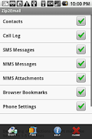 Screenshot of Save2Email -SMS MMS Contacts++