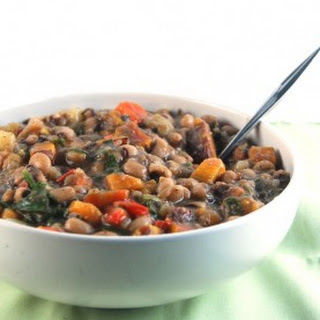 Caribbean Black Eyed Peas Stew.
