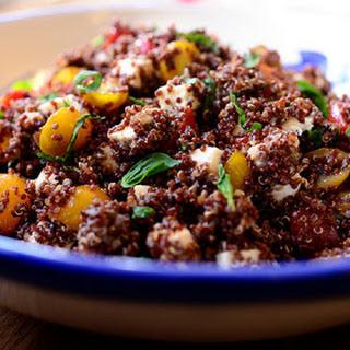 Quinoa with Tomato, Basil, and Mozzarella.