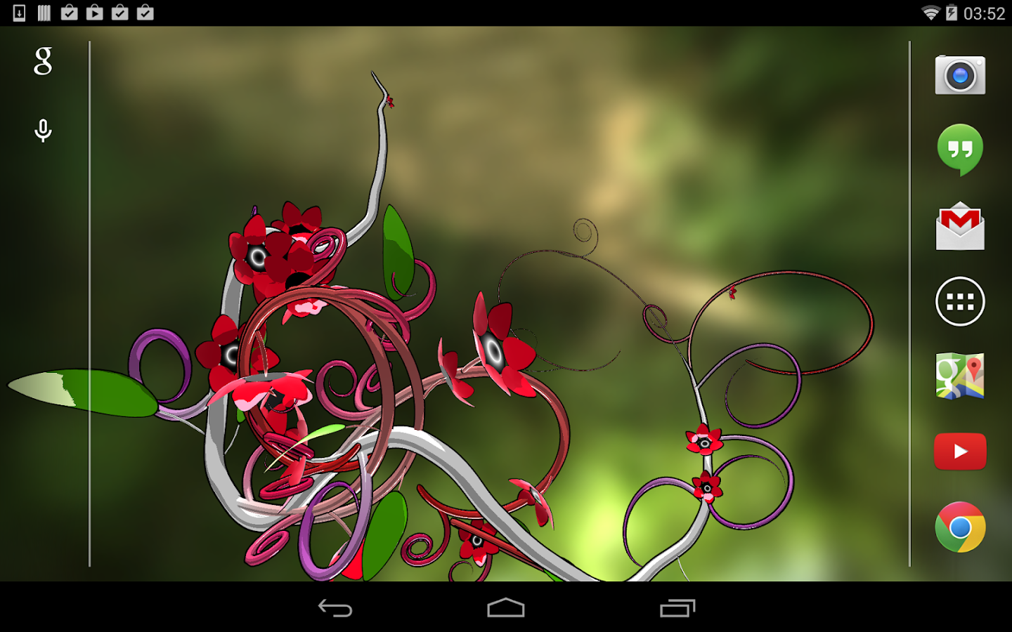 Jungle of Flowers 3D LWP- screenshot