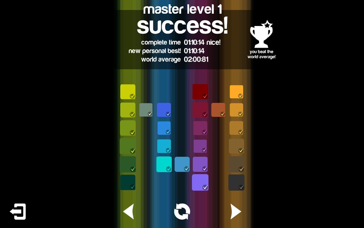 Game color theory - Blendoku Screenshot