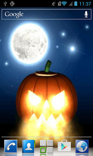 Pumpkin exhaling flame LWP
