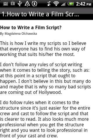 writing a theatre scripts