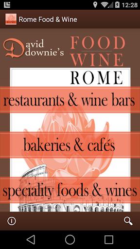 David Downie's Food Wine Rome