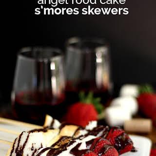Angel Food Cake S'mores Skewers.