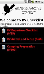 RV Checklist - screenshot thumbnail