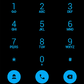 Dialer theme Flat Black Blue