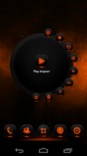 NextLauncher Theme MagicOrange- screenshot thumbnail