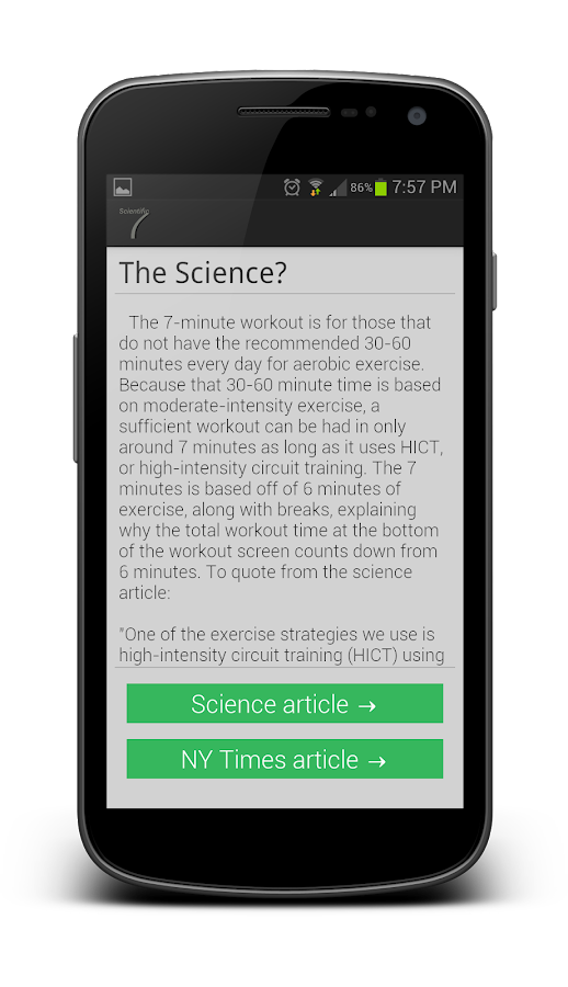 Scientific 7 Minute Workout - screenshot