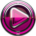 Poweramp skin Pink Glas deluxe icon