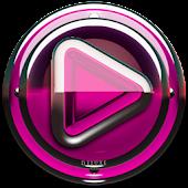 Poweramp skin Pink Glas deluxe