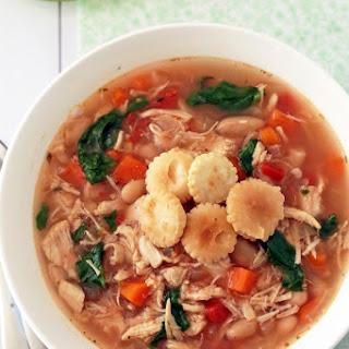 Crockpot Tuscan Chicken Soup.
