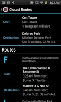 Screenshot of MobileMuni - The SF Muni App