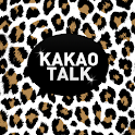 White Brown Leopard KakaoTheme