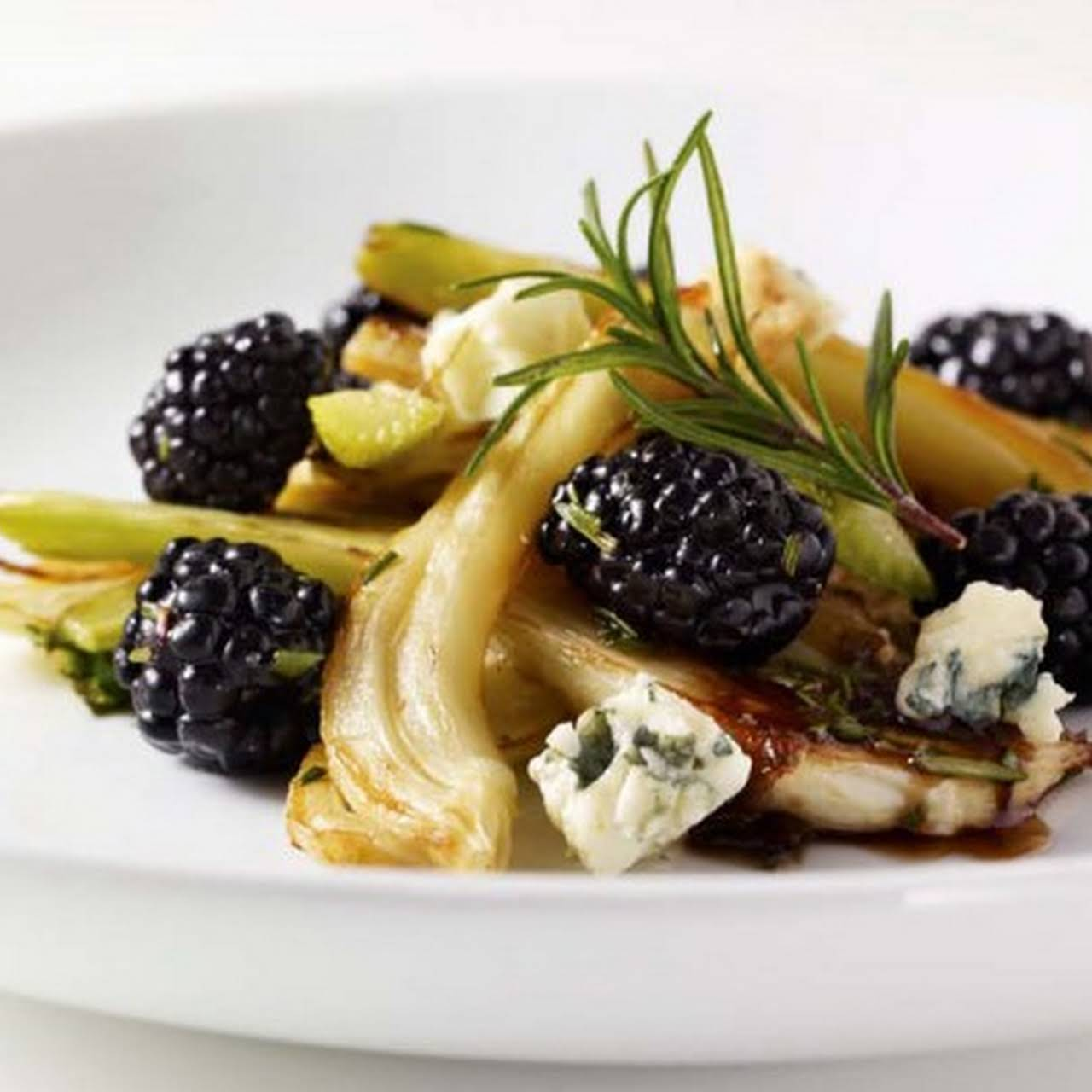 Roasted Fennel Salad  later Blackberries