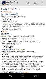 Oxford Dictionary of English T - screenshot thumbnail
