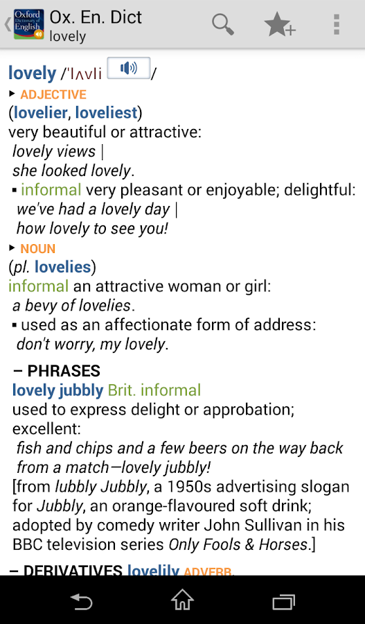 Oxford Dictionary of English T - screenshot