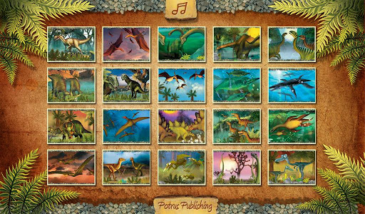 Dinosaurs. The Jigsaw Puzzles.