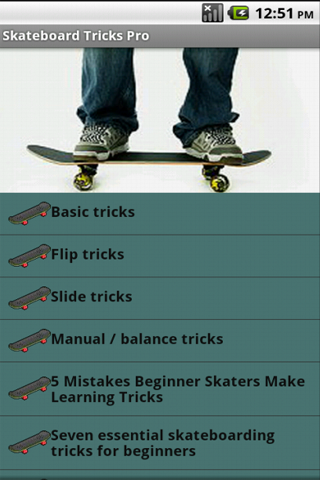 Skateboard Tricks - screenshot