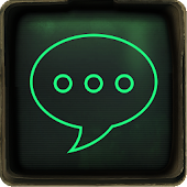 Go SMS Pip Boy 3000 theme