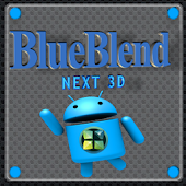 Blue Blend Next Launcher 3D