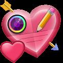 Valentine Text on Pics icon