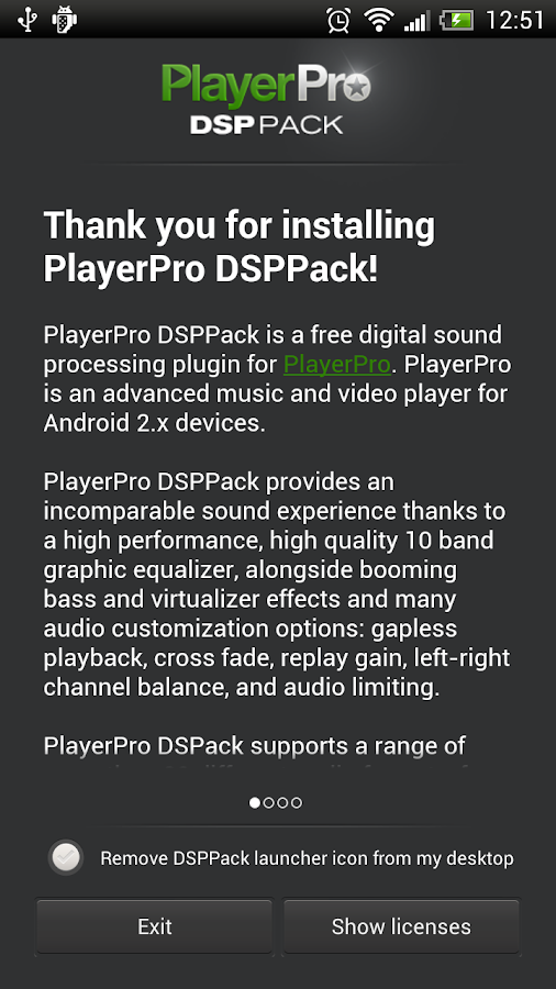 PlayerPro DSP pack - screenshot
