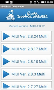 MIUI Rom Downloader - screenshot thumbnail
