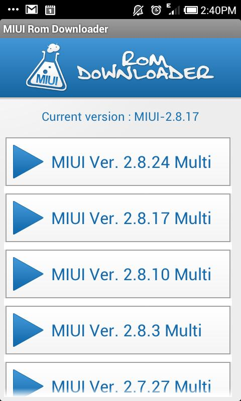 MIUI Rom Downloader - screenshot