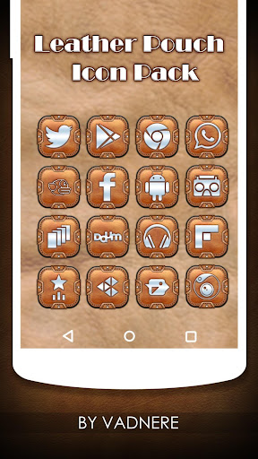 Leather Pouch Theme Icon Pack