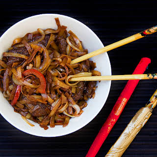 CHINESE FUN NOODLES with BEEF.