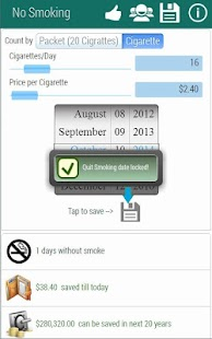 Quit Smoking Planner - screenshot thumbnail