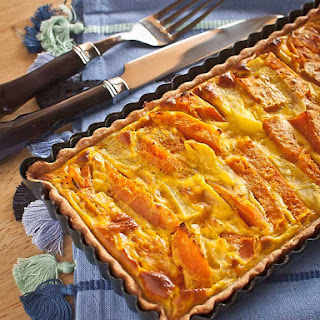 Pumpkin and Potato Spiced Tart.