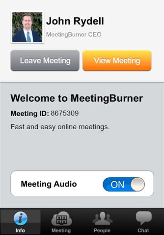 Meeting Burner: screenshot