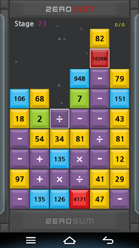 ZeroSum mathematics puzzle