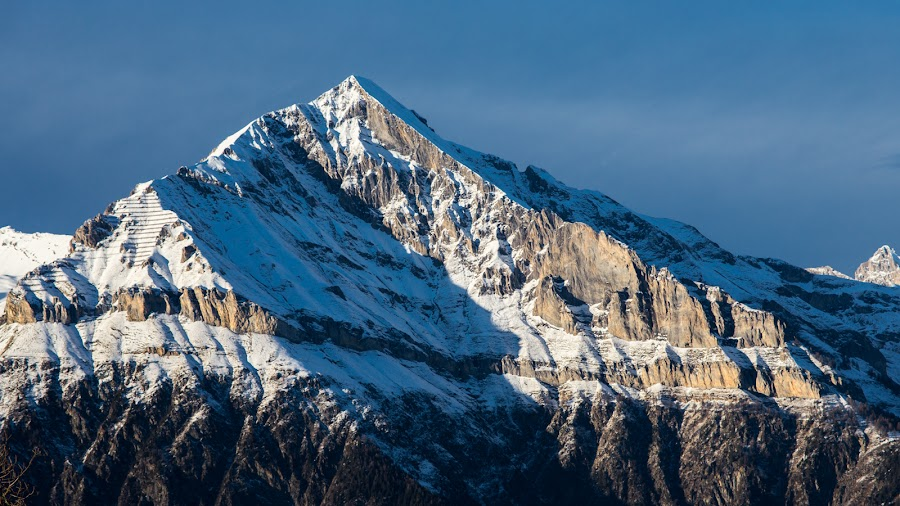 Grand Chavalard  by Christophe Warpelin - Landscapes Mountains & Hills ( valais, mountain, suisse, chavalard, switzerland,  )