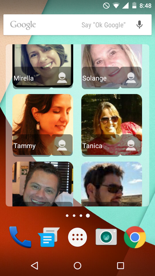Contact Panel Widget- screenshot