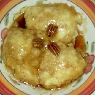 Dumplings and Cocky's Joy (Caramel Sauce)