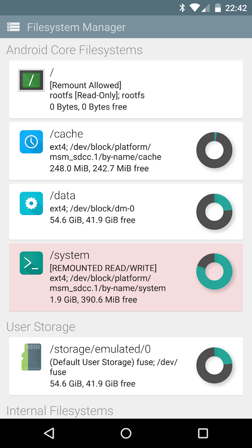 File Explorer (Root Add-On)- screenshot