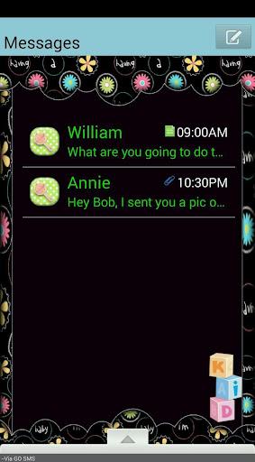 BabyLove GO SMS THEME