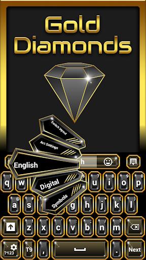 GOキーボードゴールドダイヤモンド