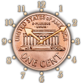 USA 1 cent clock -penny +alarm