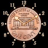 USA 1 cent clock -penny +alarm