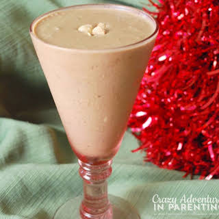 Mocha Peanut Butter Espresso Shake with Almond Milk and Flax.