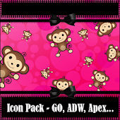 Pink Monkey Theme + Iconpack